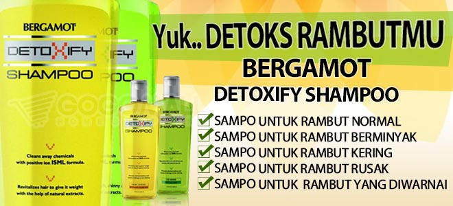 BERGAMOT DETOXIFY SHAMPOO: Shampo Untuk Rambut Kering - Rambut Rusak - Rambut Diwarnai