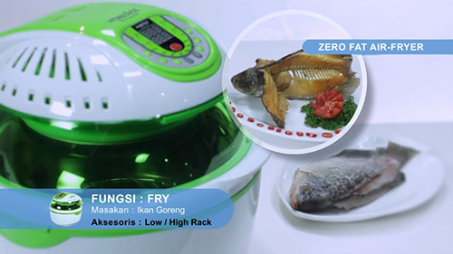 alat masak multifungsi zero fat air fryer