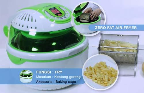 alat masak multifungsi menggoreng tanpa minyak zero fat air fryer