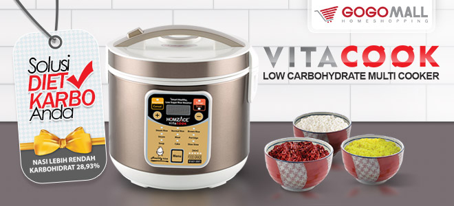 Vitacook Healthy Smart Multi Cooker Alat Masak Modern Serbaguna