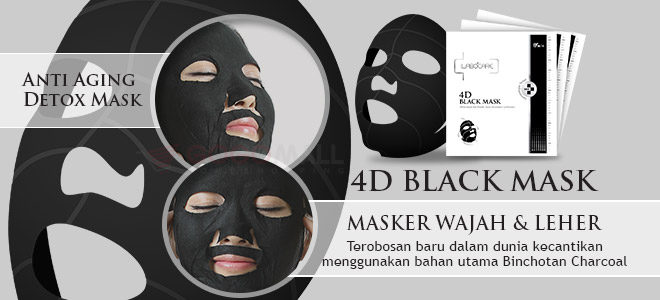 masker wajah korea 4d black mask