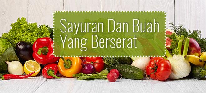 sayuran dan buat yang berserat